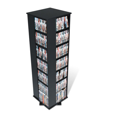Prepac Black Four Sided Spinner / Multimedia Storage Tower (Holds 1060 CDs)