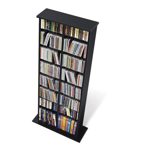 Prepac Black Double Multimedia Storage Tower (Holds 320 CDs)