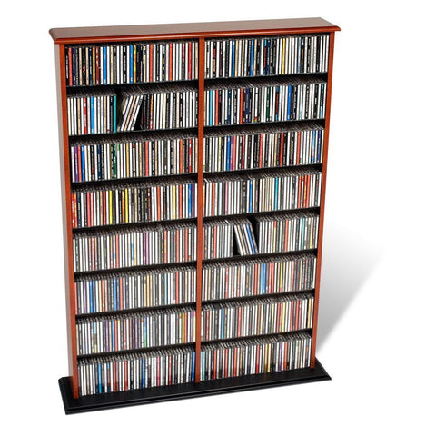 Prepac Cherry Double Media Tower (Holds 650 CDs)