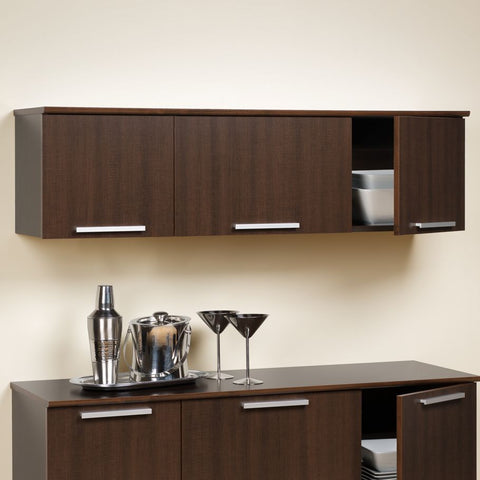 Prepac Coal Harbor Espresso Wall Mounted Hutch