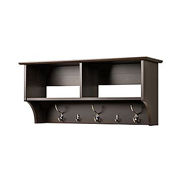Prepac Wide Hanging Entryway Shelf in Espresso