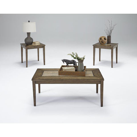 Progressive Forest Brook Cocktail & 2 End Tables