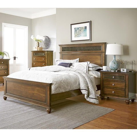 Progressive Furniture 3 Piece Panel Bedroom Set in Root Beer