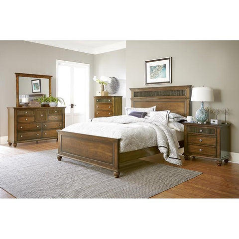Progressive Furniture 4 Piece Panel Bedroom Set in Root Beer