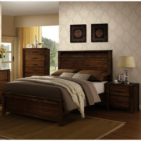 Progressive Furniture Brayden 3 Piece Platform Bedroom Set in Satin Mindi