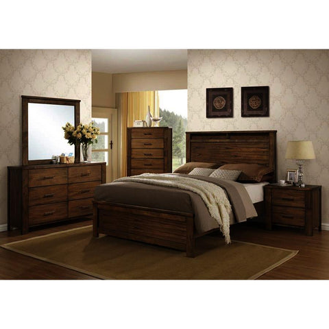Progressive Furniture Brayden 4 Piece Platform Bedroom Set in Satin Mindi