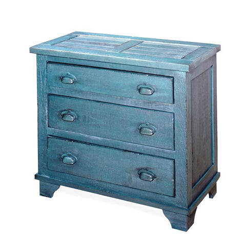 Progressive Furniture Camryn Industrial Chest in Denim Blue