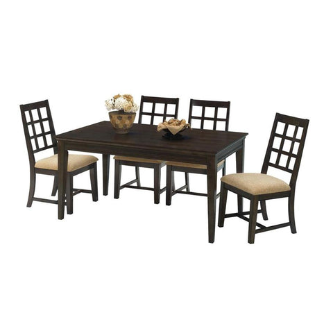 Progressive Furniture Casual Traditions 5 Piece Rectangular Dining Room Set in Walnut