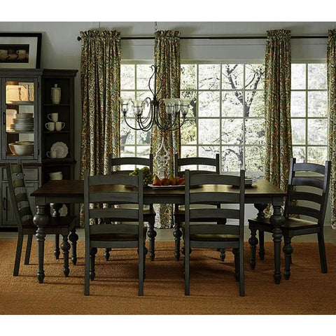 Progressive Furniture Colonnades 7 Piece Rectangular Dining Room Set in Putty & Oak