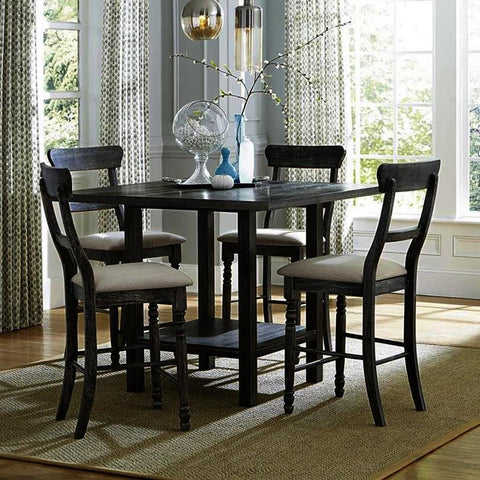 Progressive Furniture Muses 5 Piece Counter Table Set in Dove Gray