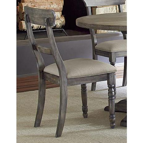 Progressive Furniture Muses Ladderback Chair in Dove Grey