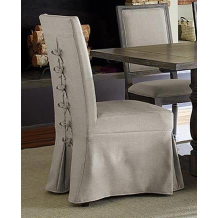 Progressive Furniture Muses Parsons Chair w/Cover in Dove Grey