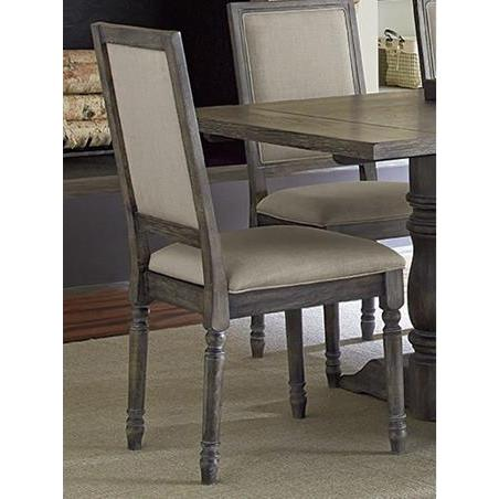 Progressive Furniture Muses Upholstered Back Chair in Dove Grey