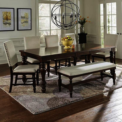 Progressive Furniture Sanctuary 6 Piece Dining Room Set in Cherry