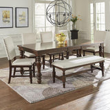 Progressive Furniture Sanctuary 7 Piece Dining Room Set in Cherry