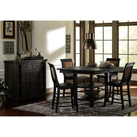 Progressive Furniture Willow 6 Piece Rectangular Counter Table Set w/Upholstered Chairs