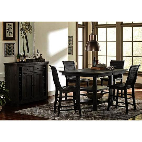 Progressive Furniture Willow 6 Piece Rectangular Counter Table Set w/Wood Chairs