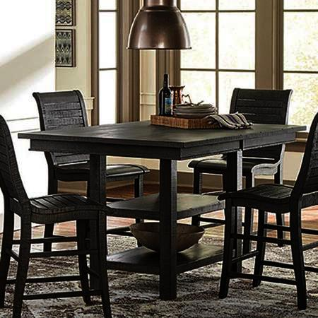 Progressive Furniture Willow Rectangular Counter Table in Distressed Dark Gray