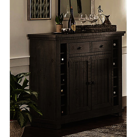 Progressive Furniture Willow Server in Distressed Dark Gray