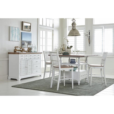 Progressive Shutters 5 Piece Counter Dining Set with Chairs