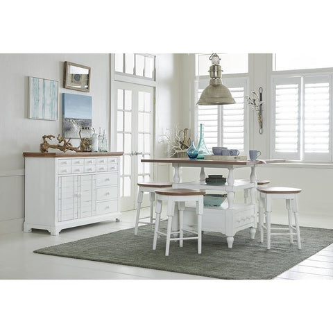 Progressive Shutters 5 Piece Counter Dining Set with Stools