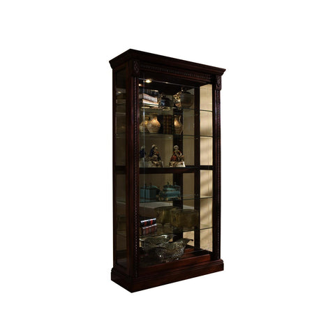 Pulaski 2-Way Sliding Door Curio Medallion Cher