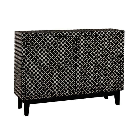 Pulaski Adams Black and White Graphic Patterened Credenza