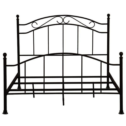 "Pulaski All-in-One Brown ""Scroll"" Queen Metal Bed"