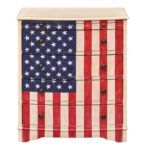 Pulaski American Flag Accent Drawer Chest