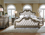 Pulaski Arabella Upholstered Bed in Brown
