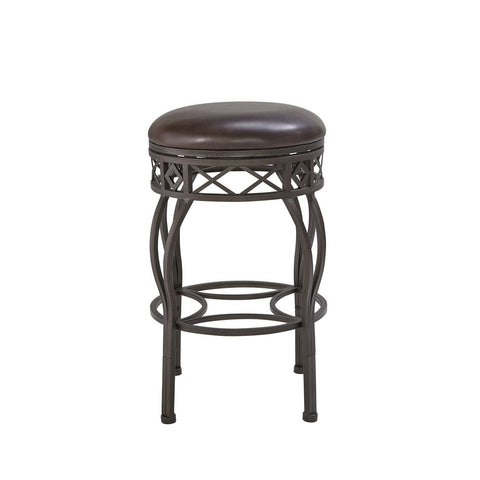 Pulaski Backless Adjustable Metal Frame Barstool