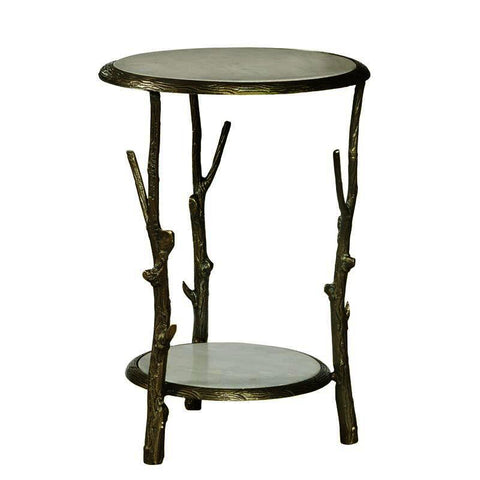 Pulaski Brady Round Marble Top Accent Table