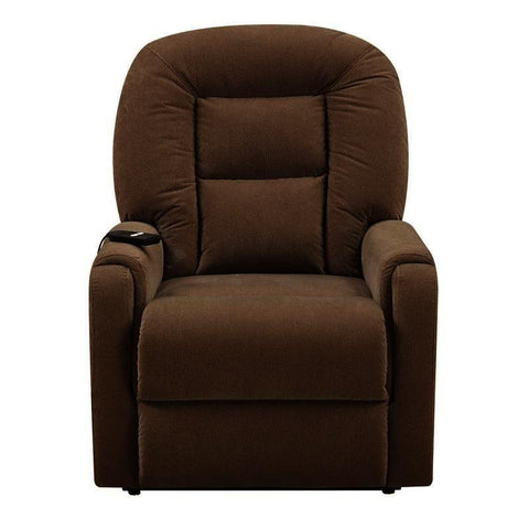 Pulaski Brown Upholstered Lift Chair in Raider Mocha