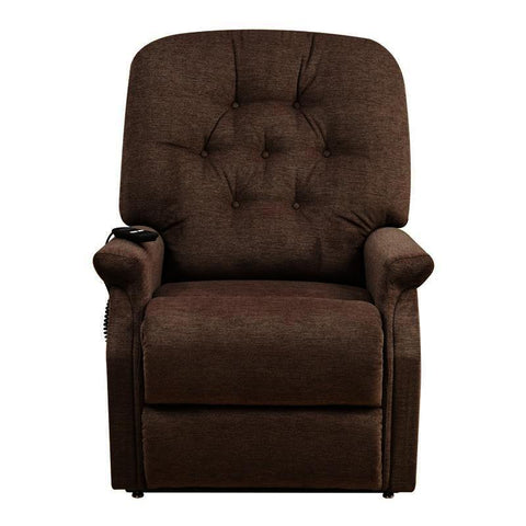 Pulaski Button Tufted Lift Chair in Saville Brown