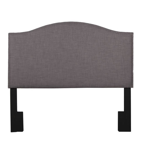 Pulaski Camelback Upholstered Headboard in Heathered Brown