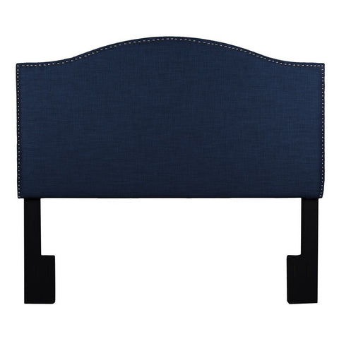 Pulaski Camelback Upholstered Headboard in Navy Blue