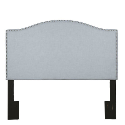 Pulaski Camelback Upholstered Headboard in Spa Blue