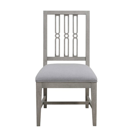 Pulaski Casual Upholstered Dining Side Chair in Grey Birch