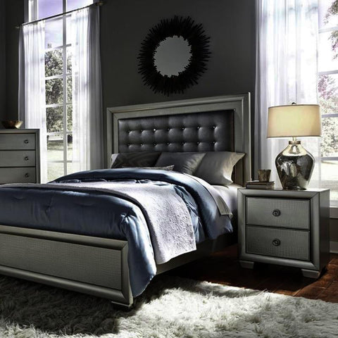 Pulaski Celestial 2 Piece Upholstered Platform Bedroom Set