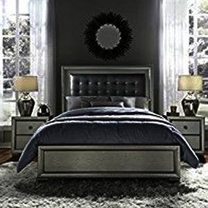 Pulaski Celestial 3 Piece Upholstered Platform Bedroom Set