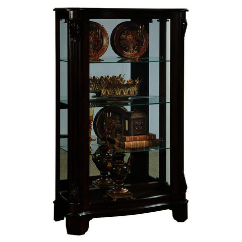 Pulaski Deep Cherry Mirrored Mantel Curio