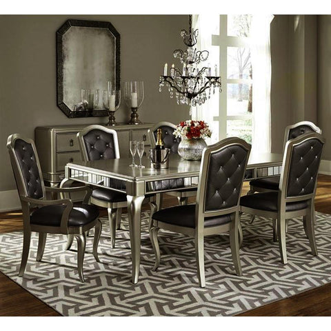 Pulaski Diva 8 Piece Rectangular Leg Dining Room Set