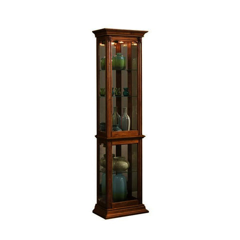 Pulaski Estate Oak Mirrored Curio