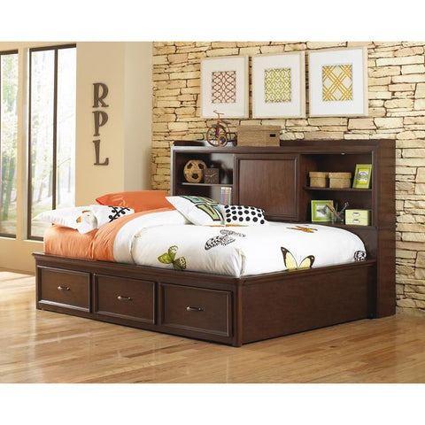 Pulaski Expedition Youth Full Size Lounge Bed in Brown