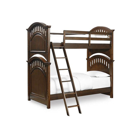 Pulaski Expedition Youth Twin Bunk Bed w/ Ladder in Brown