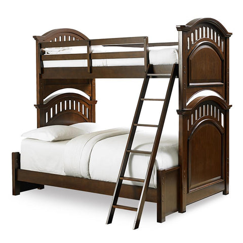 Pulaski Expedition Youth Twin Bunk Bed w/Full Extension in Brown