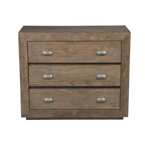 Pulaski Farm House Style Accent Chest w/Industrial Elements in Brown