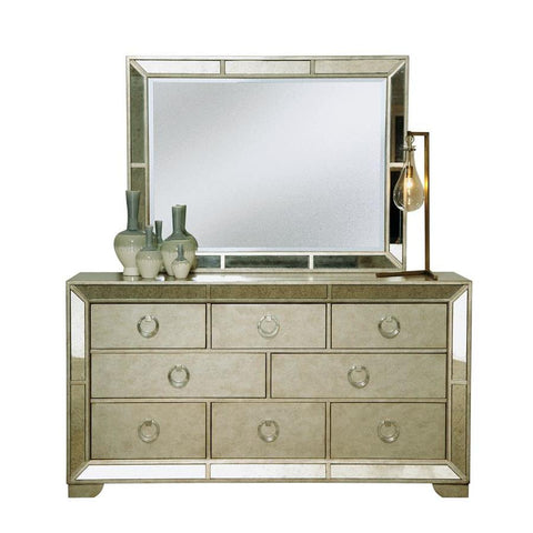 Pulaski Farrah 8 Drawer Dresser w/Mirror in Gold