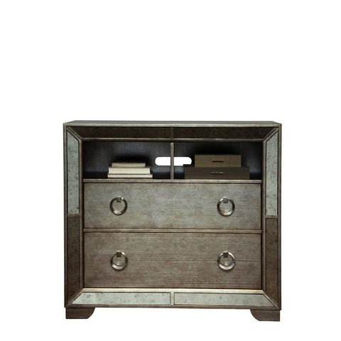 Pulaski Farrah Media Chest in Metallic