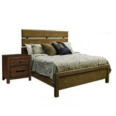 Pulaski Flatbush 2 Piece Plank Style Platform Bedroom Set